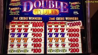 Double Gold Slot Machine★Viewer requested★Pechanga Resort Casino [カリフォルニア カジノ] [赤富士スロット] [スロットプレー]