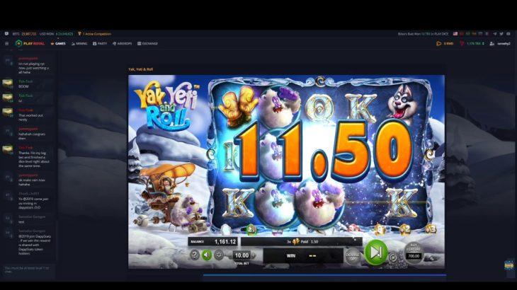 【オンラインカジノ】PlayRoyal スロットゲーム Yak, Yeti & Rollやってみた。