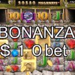 【オンラインカジノ】【カジ旅】BONANZA(ボナンザ)$10bet実践!!