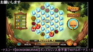 オンラインカジノ 最終ダイヤで760倍!! Honey Rush 【ボンズカジノ】